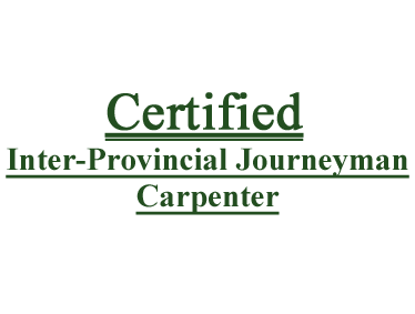 Certified Inter-Provincial Journeyman Carpenter